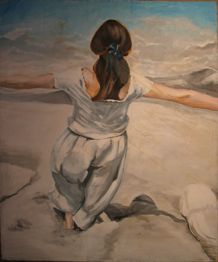 florence gautier artiste peintre acryliques femme en croix