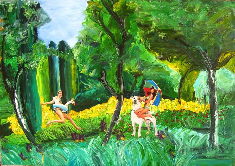 Les paradis les plus beaux sont ceux qu 39 on a perdus huile sur toile artis - Les danois sont beaux ...
