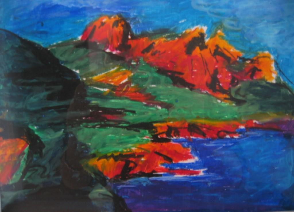 Cap-roux,Pastel sur papier 20 X 25,artiste peintre moderne ...