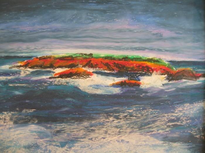 Tableaux D'Artiste Peintre,Pastel Sur Papier,Pastel