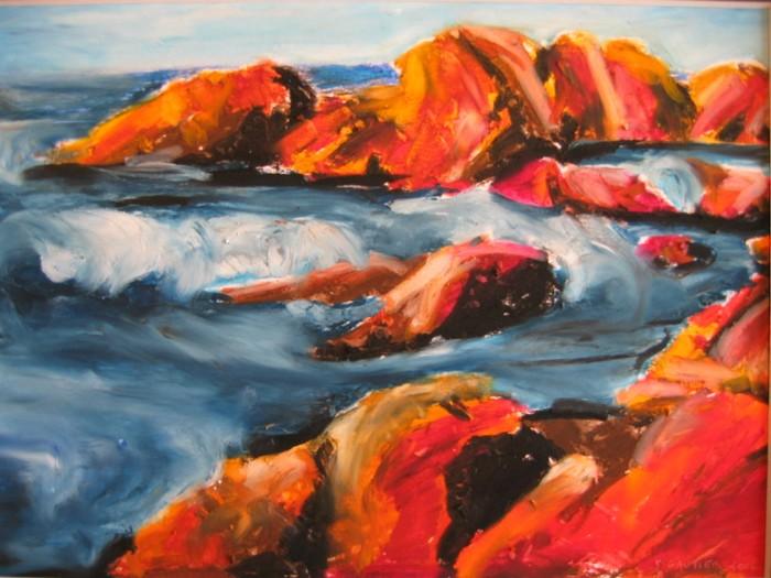 Bord de mer pastel sur papier 19 x 13 artiste peintre for Artiste peintre anglais